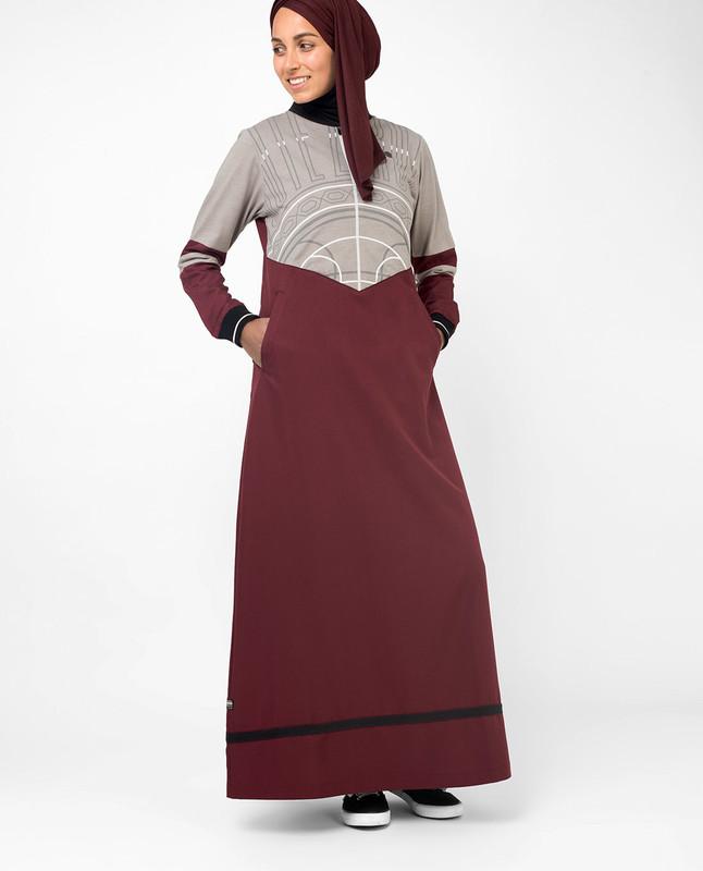 Buy red abaya jilbab