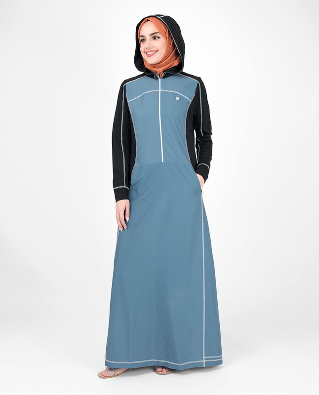 Blue abaya jilbab