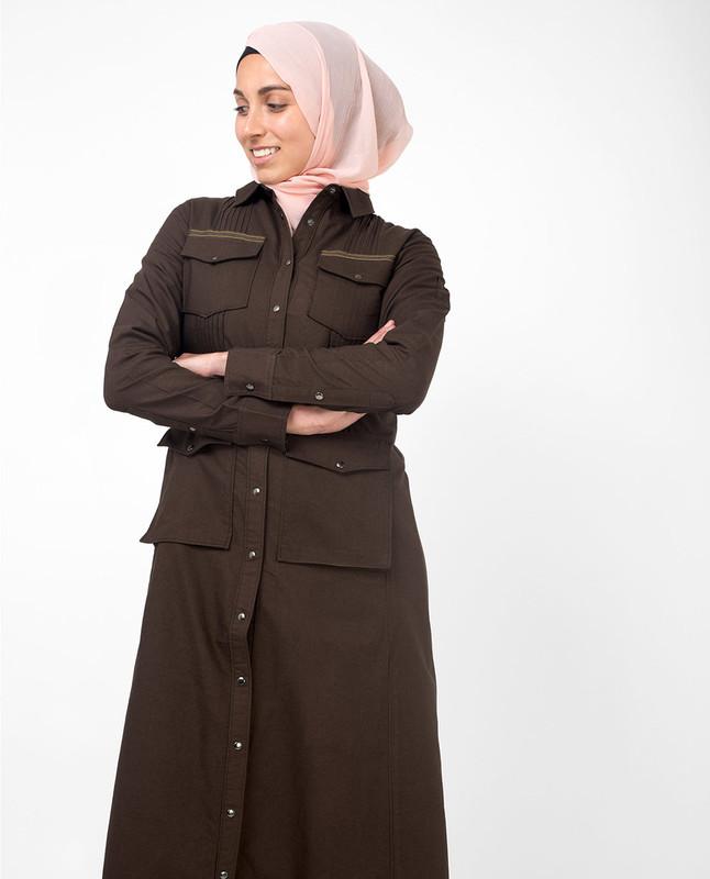 Fully front open abaya jilbab