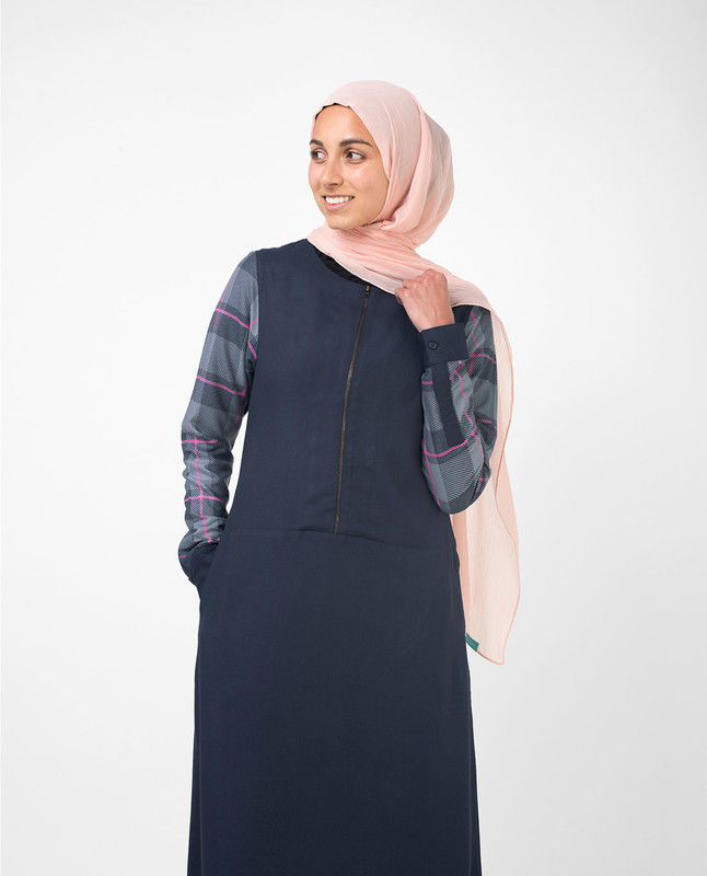 Blue dress abaya jilbab