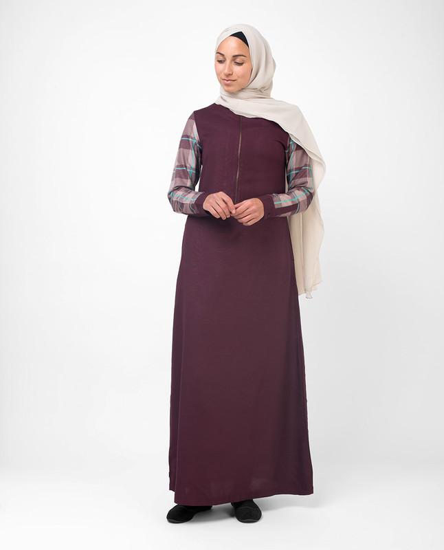 Buy maroon casual abaya jilbab
