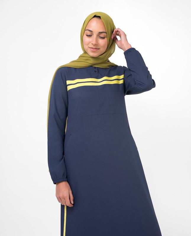 Blue casual abaya jilbab