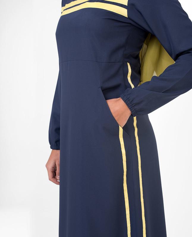 Blue sporty abaya jilbab