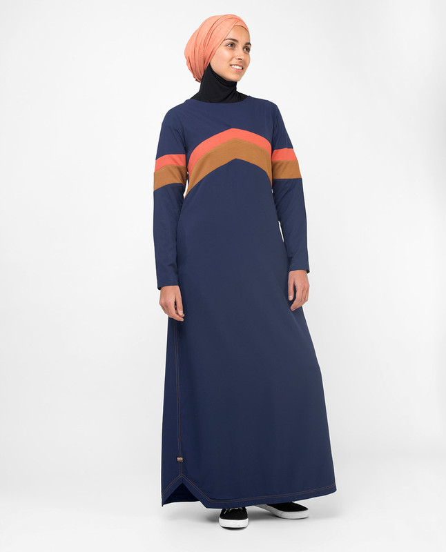 Blue fashionable abaya jilbab