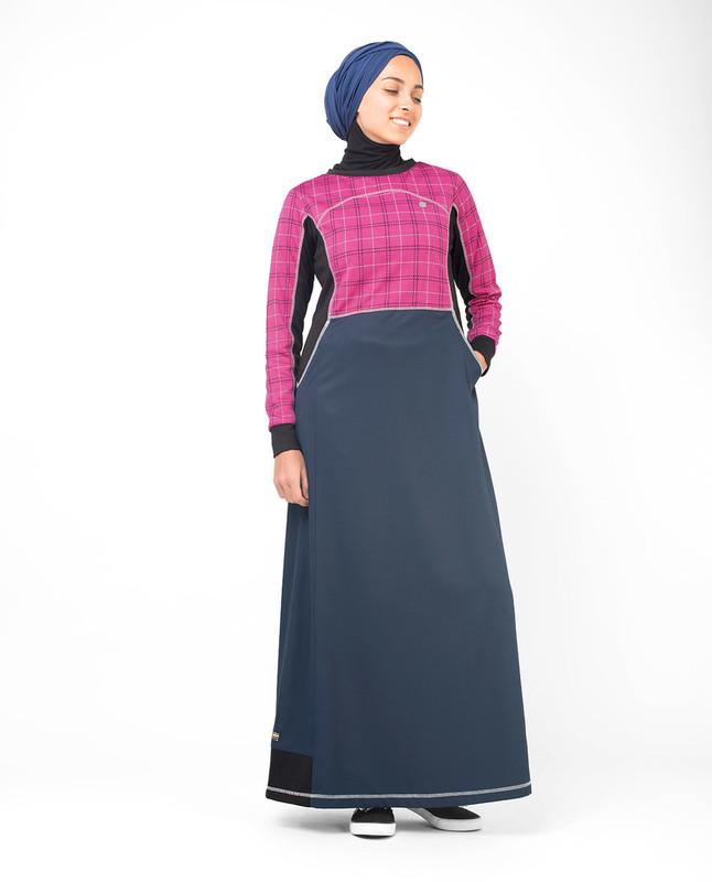 Buy printed pink abaya jilbab