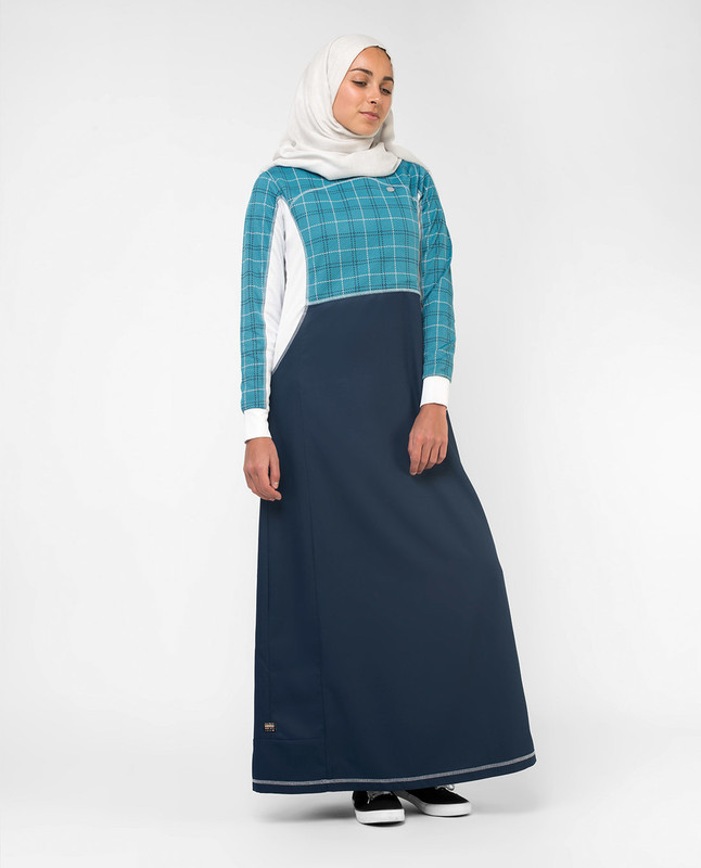 Buy blue printed abaya jilbab