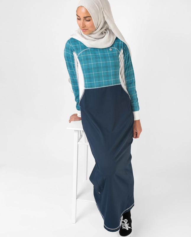 Summer casual printed abaya jilbab