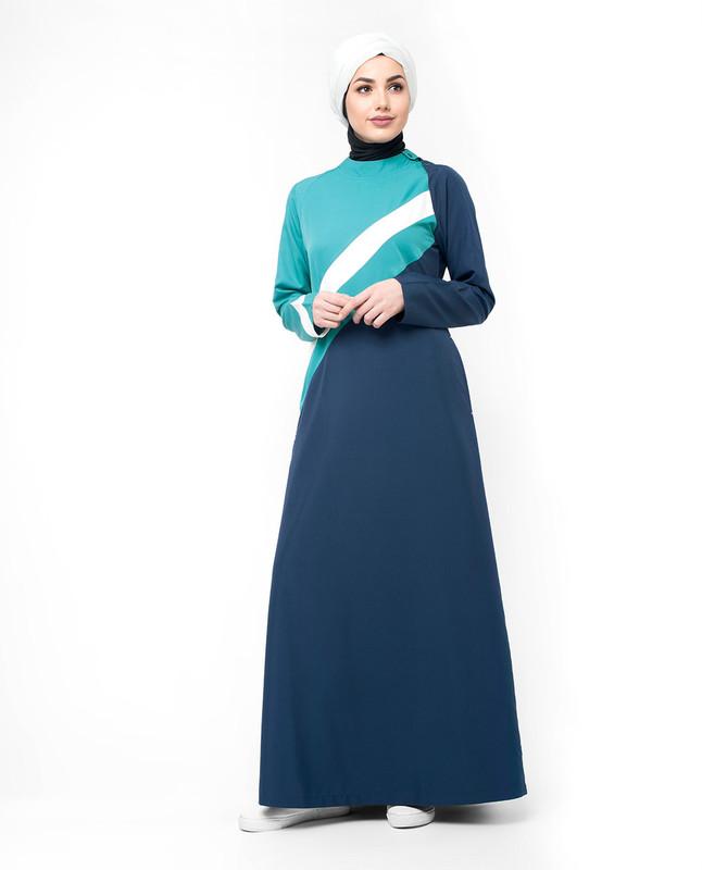 Button abaya dress jilbab