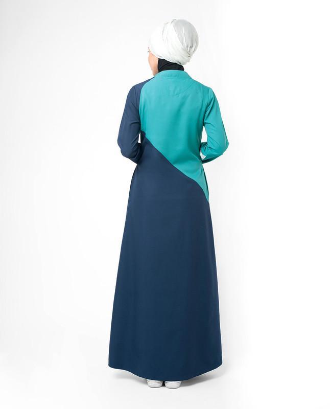 Button through abaya jilbab