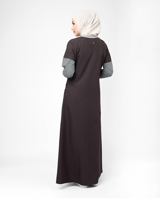 Purple color abaya jilbab