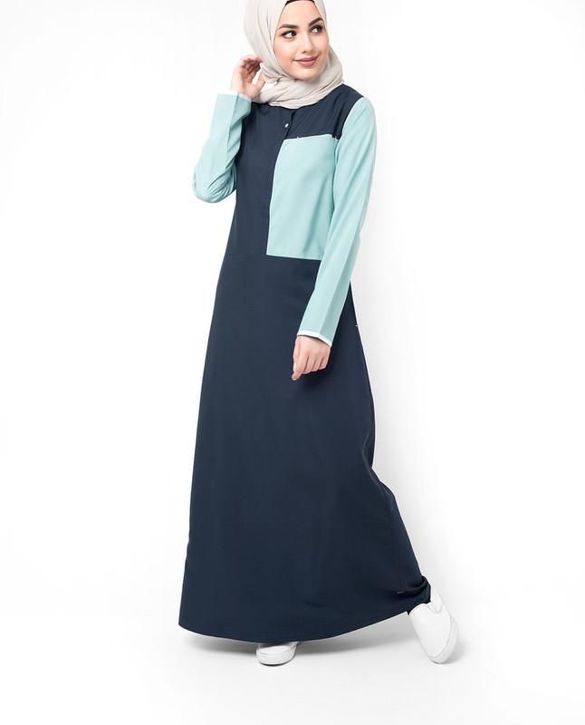 Buy Dark blue abaya jilbab
