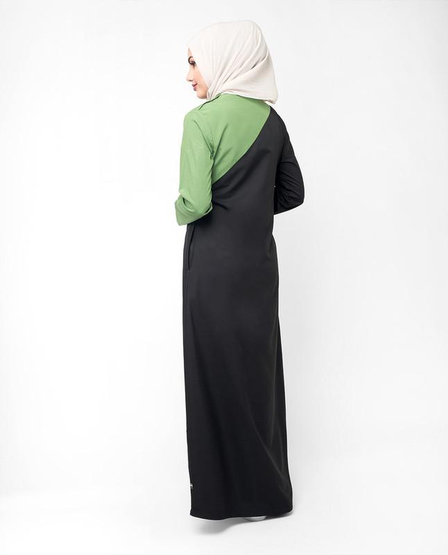 Dark green abaya jilbab