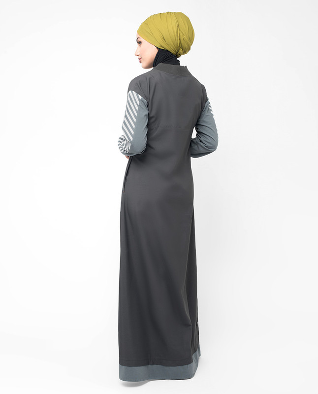 grey abaya outfit jilbab