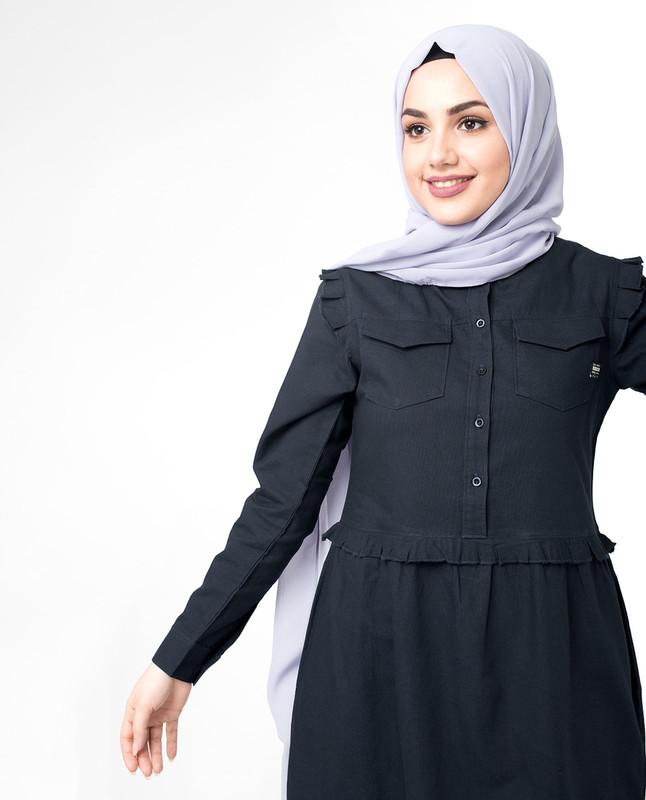 Buy Front button abaya jilbab
