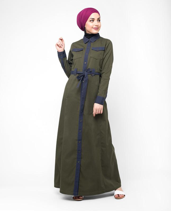Front open abaya jilbab