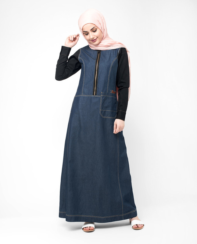 Buy denim abaya jilbab