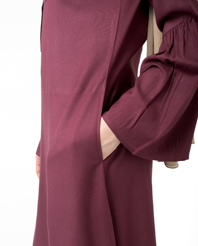 Side pockets elegant abaya jilbab
