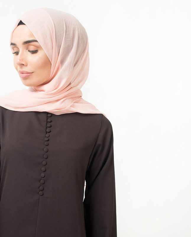 Deep Plum Collar Abaya