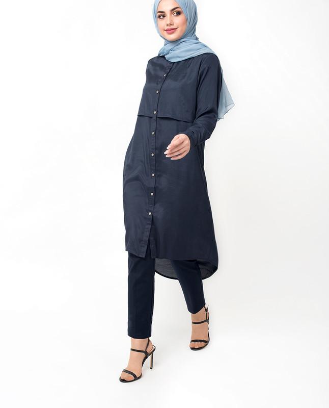 islamic tops midi dress for ladies