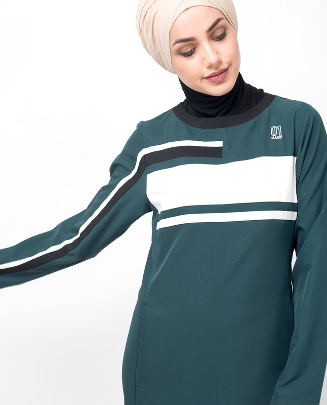 Deep Teal Sporty Abaya