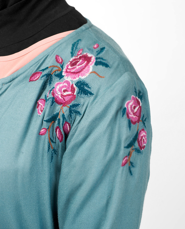 Double Cuff Embroidered Kimono