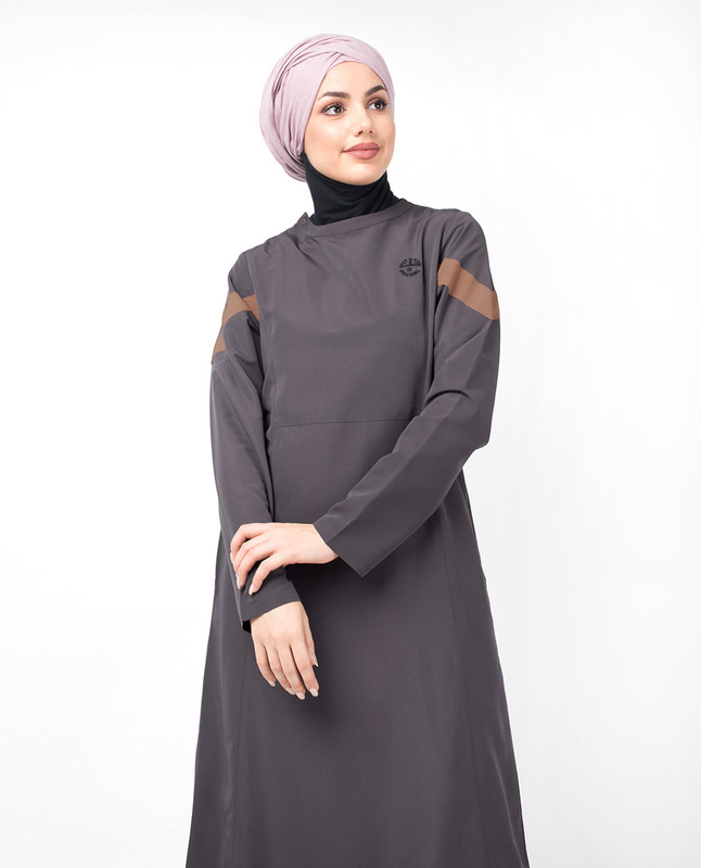 Shark Grey Diagonal Contrast Jilbab