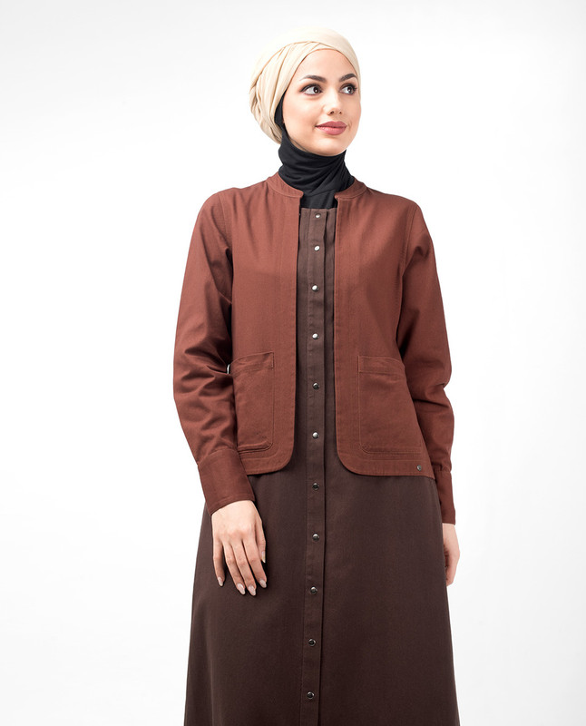 Oxford Vintage Brown Jilbab
