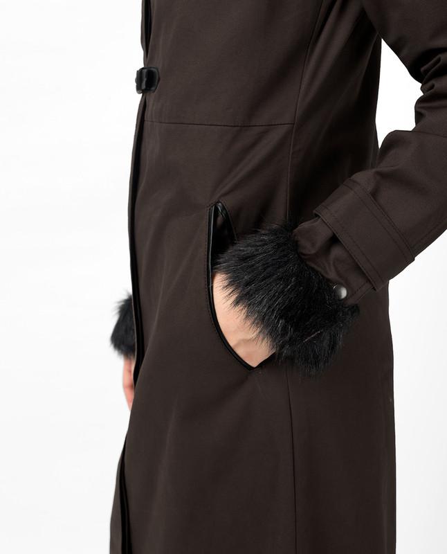 Buckle Strap Brown Hooded Jilbab