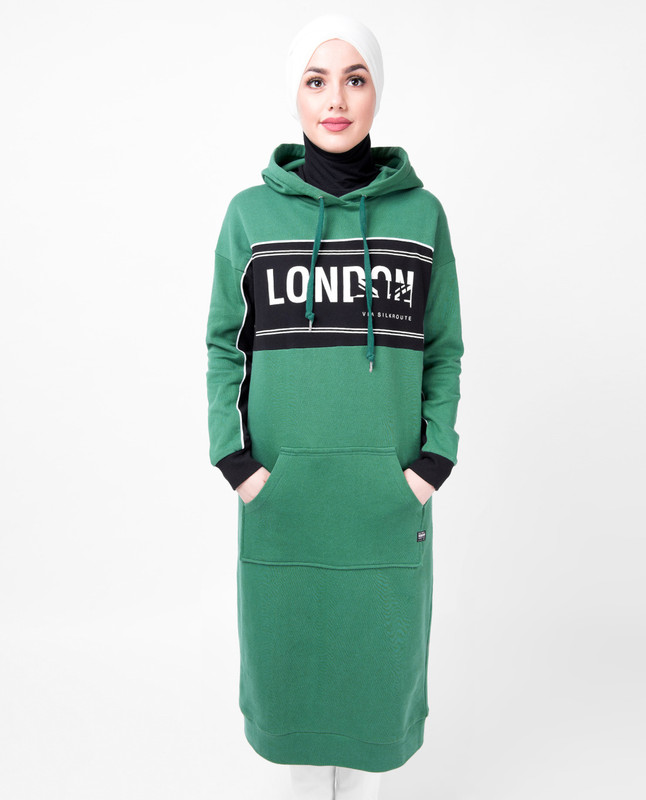 Kangaroo Pocket Hooded Midi