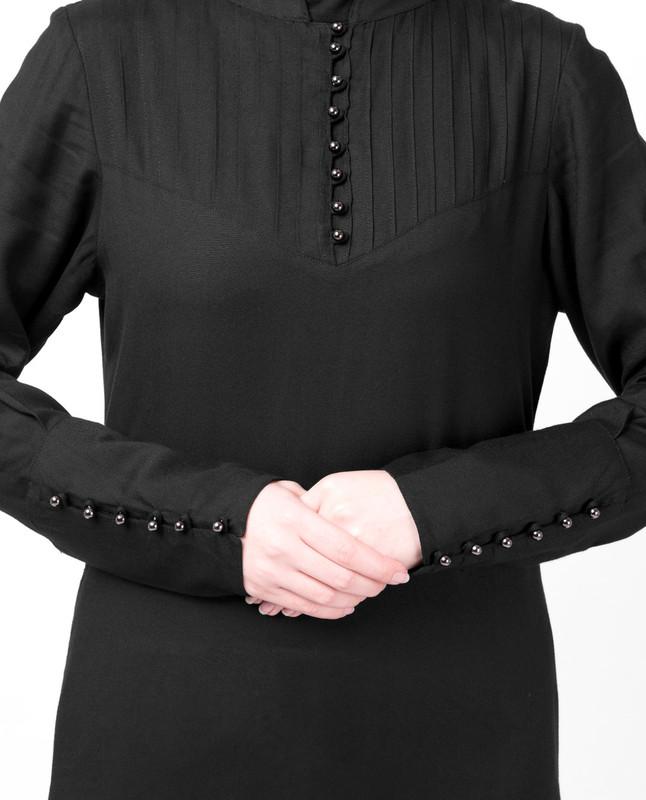 Flared Fit Black Abaya