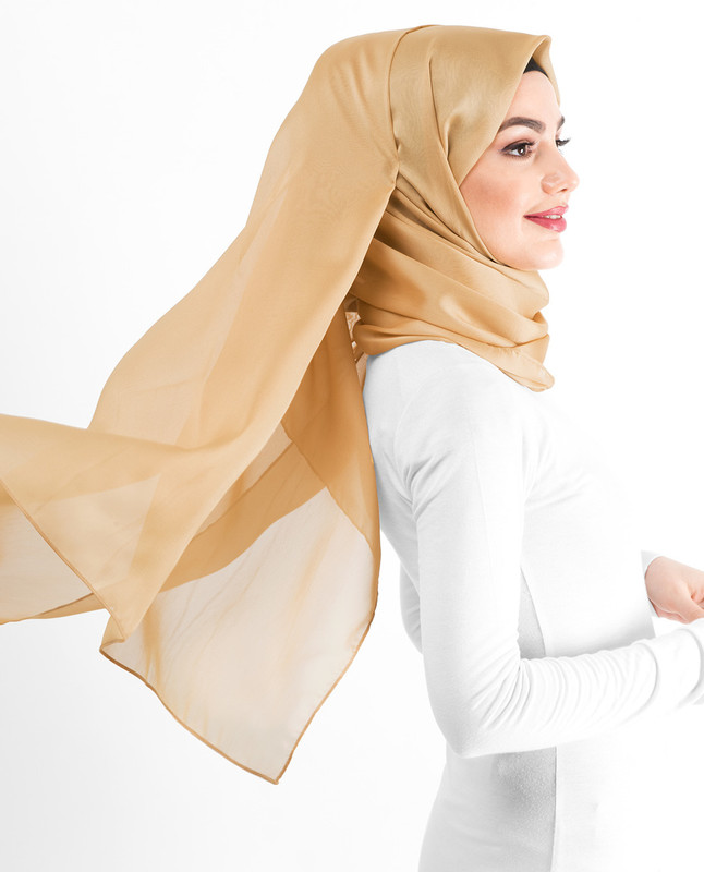 New Rattan Silky Poly Georgette Hijab