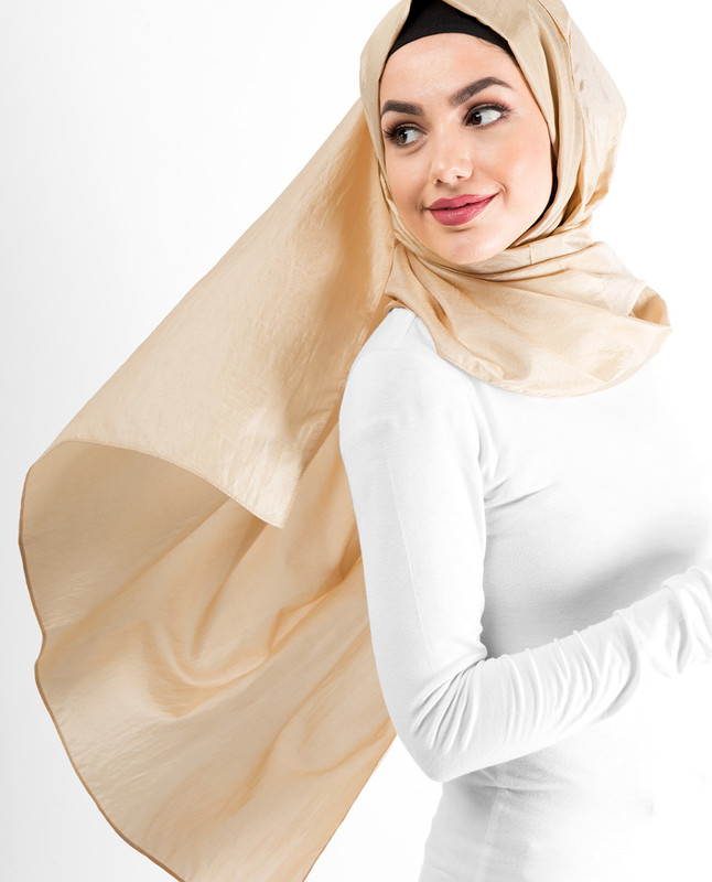 New Macedonia Shiny Silky Polyester Hijab