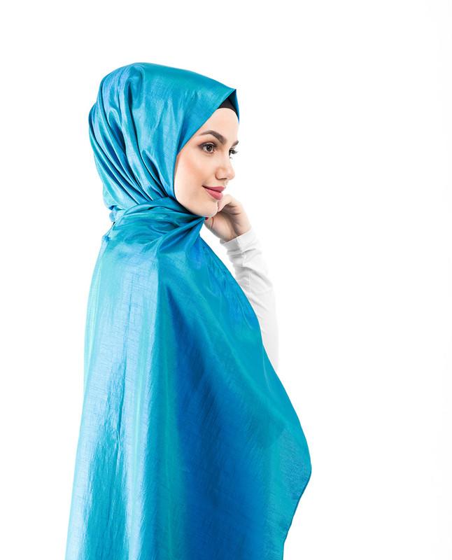 New Turkish Tile Shiny Silky Polyester Hijab