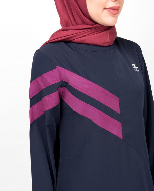 Double Stripe Navy Casual Jilbab