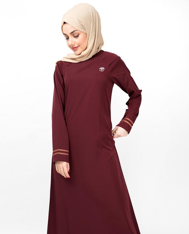 Simple Maroon Jilbab
