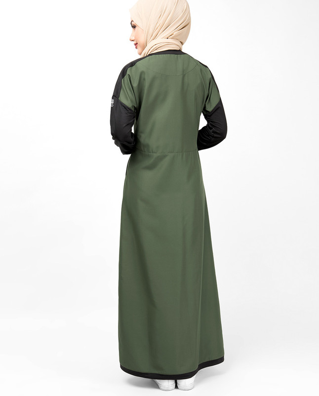 Cypress Green Drop Shoulder Jilbab