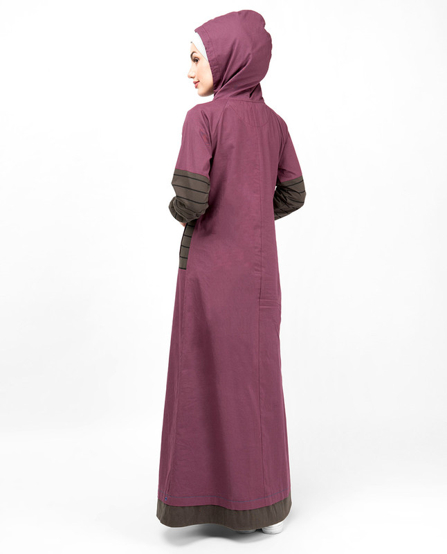 Plum Casual Hooded Jilbab
