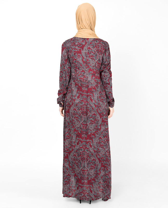 Red Oriental Inspired High Low Outerwear