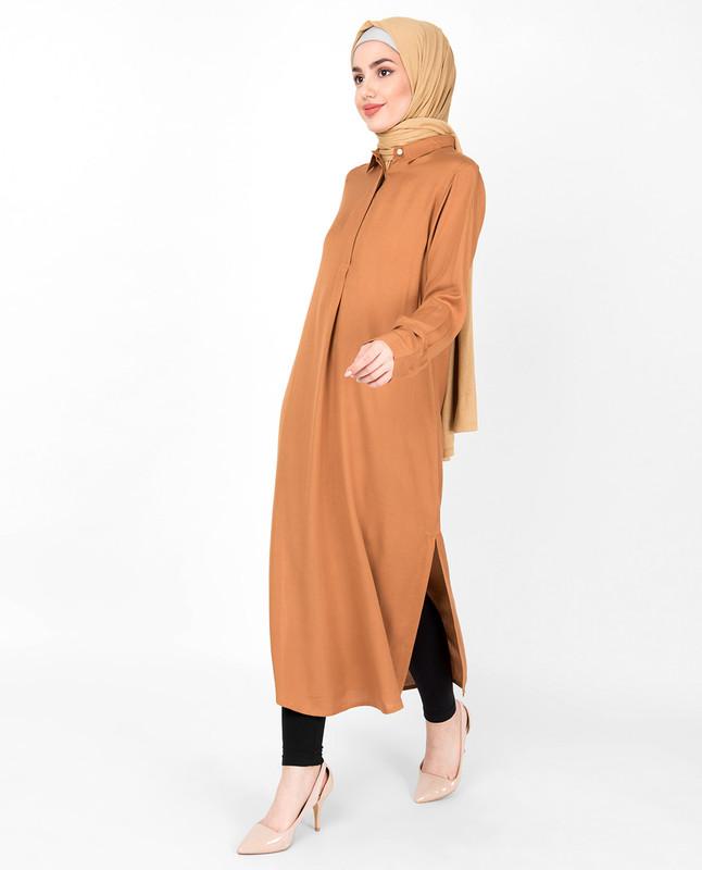 Sudan Brown Shirt Midi