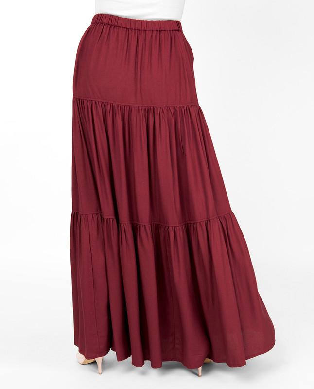 Red Pear Boho Gypsy Full Length Skirt