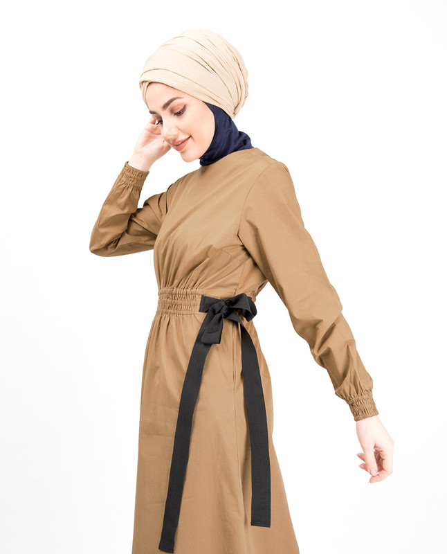Shirring Elastic Belt Abaya