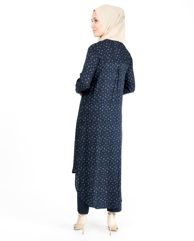 Navy Blue High Low Midi