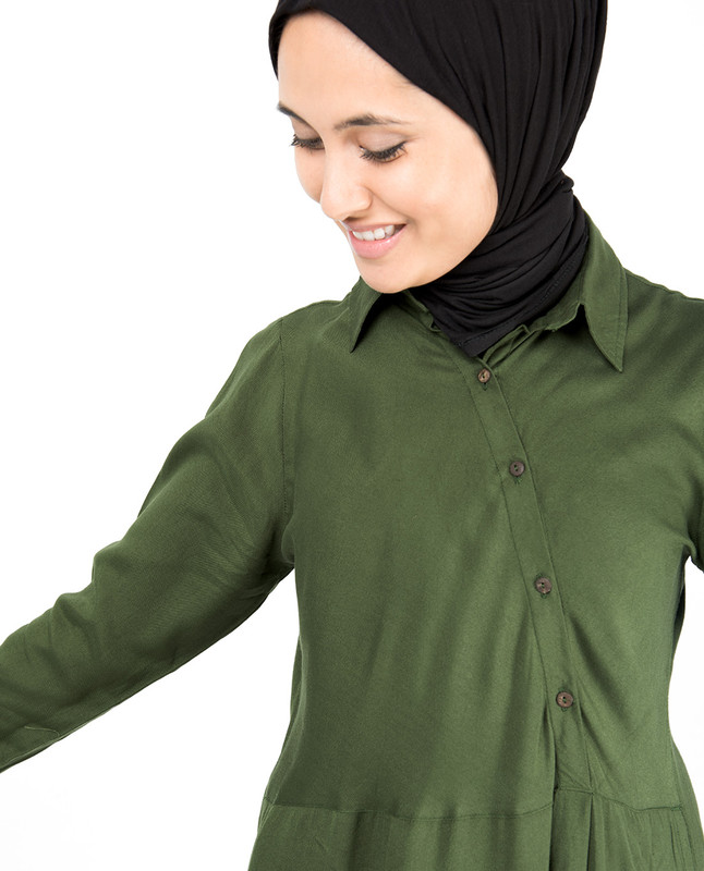 Oriental Green Abaya