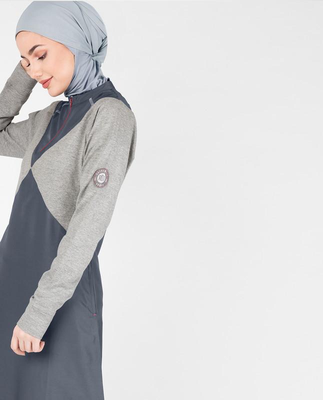 Grey Diamond Melange Jilbab
