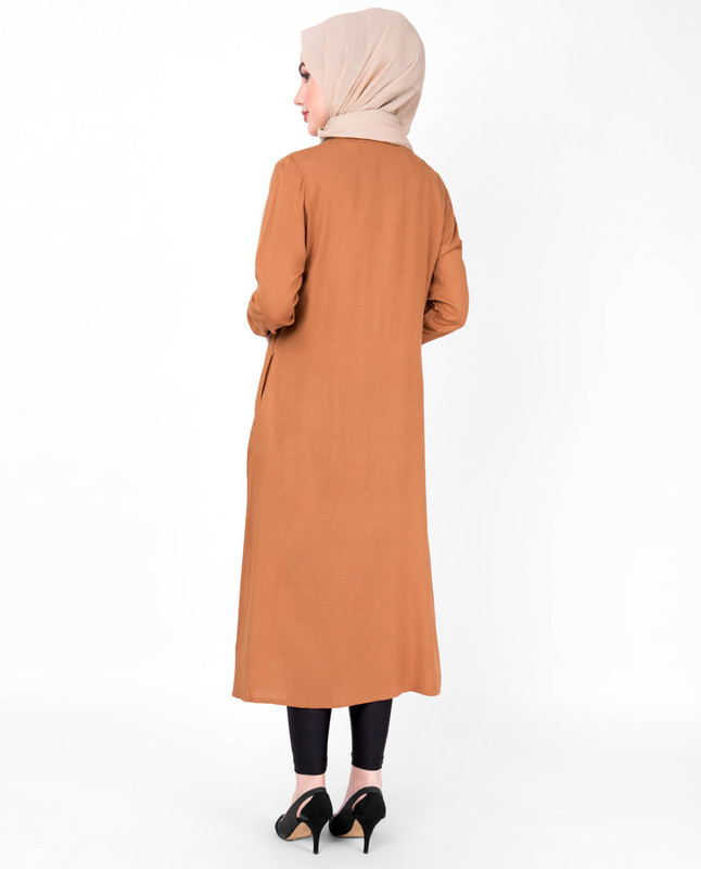 Sudan Brown Pin Tuck Midi