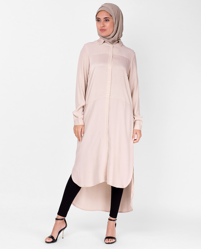 Sumo Satin Light Pink Shirt Dress