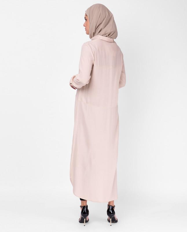 Sumo Satin Light Pink Shirt Dress