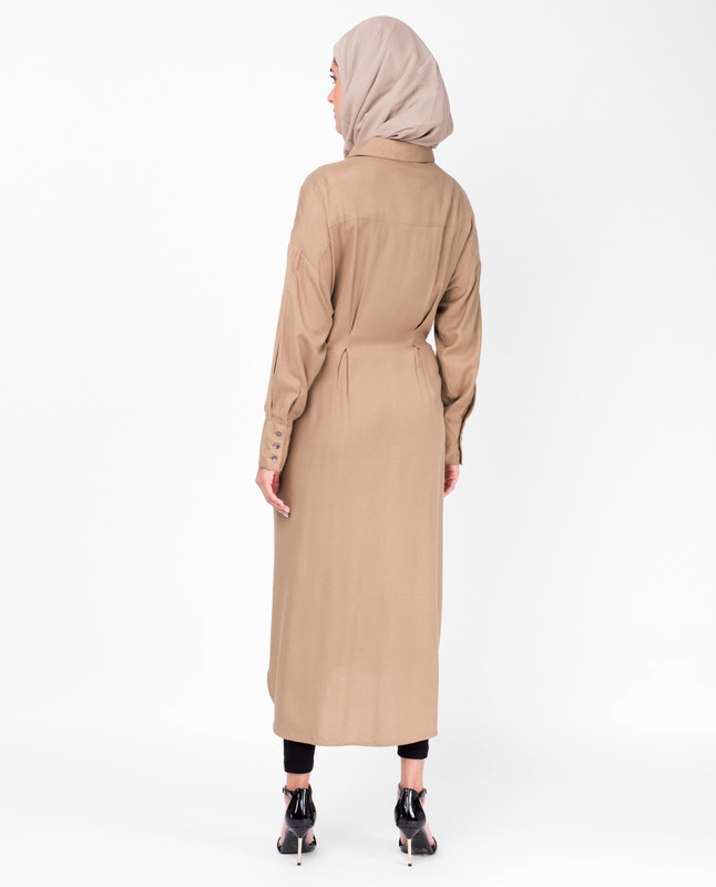 Tiger's Eye Brown Shirt Dress
