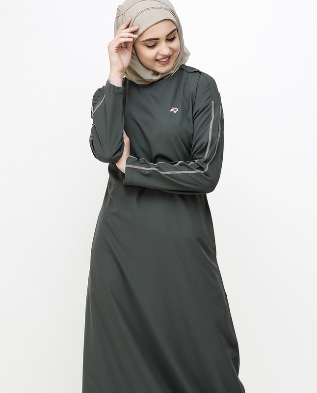 Beluga Grey Dropped Shoulder Jilbab