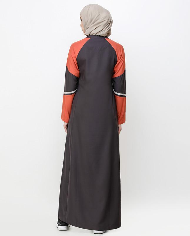 Shale Grey Angular Cut Jilbab